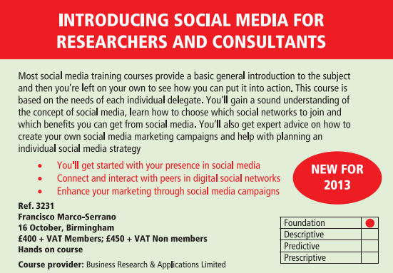 Introducing Social Media for Researchers & Consultants